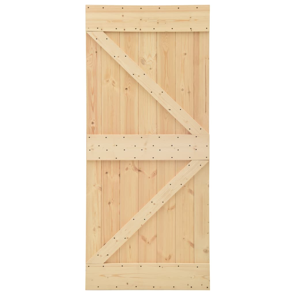 Schuifdeur met beslag 80x210 cm massief grenenhout