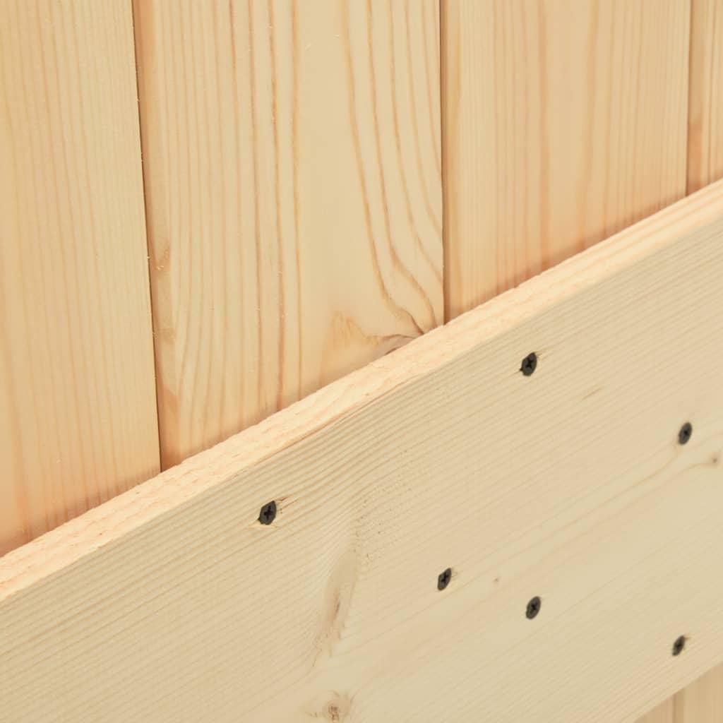 Drzwi przesuwne z osprzętem, 90x210 cm, lite drewno sosnowe