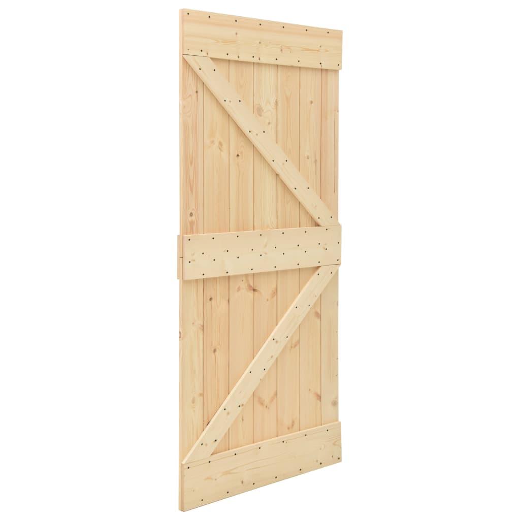 Schuifdeur met beslag 90x210 cm massief grenenhout