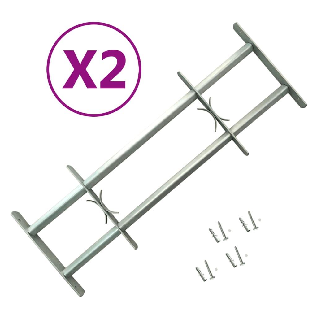 Nastavitelné bezpečnostní okenní mříže 2 ks 700–1 050 mm