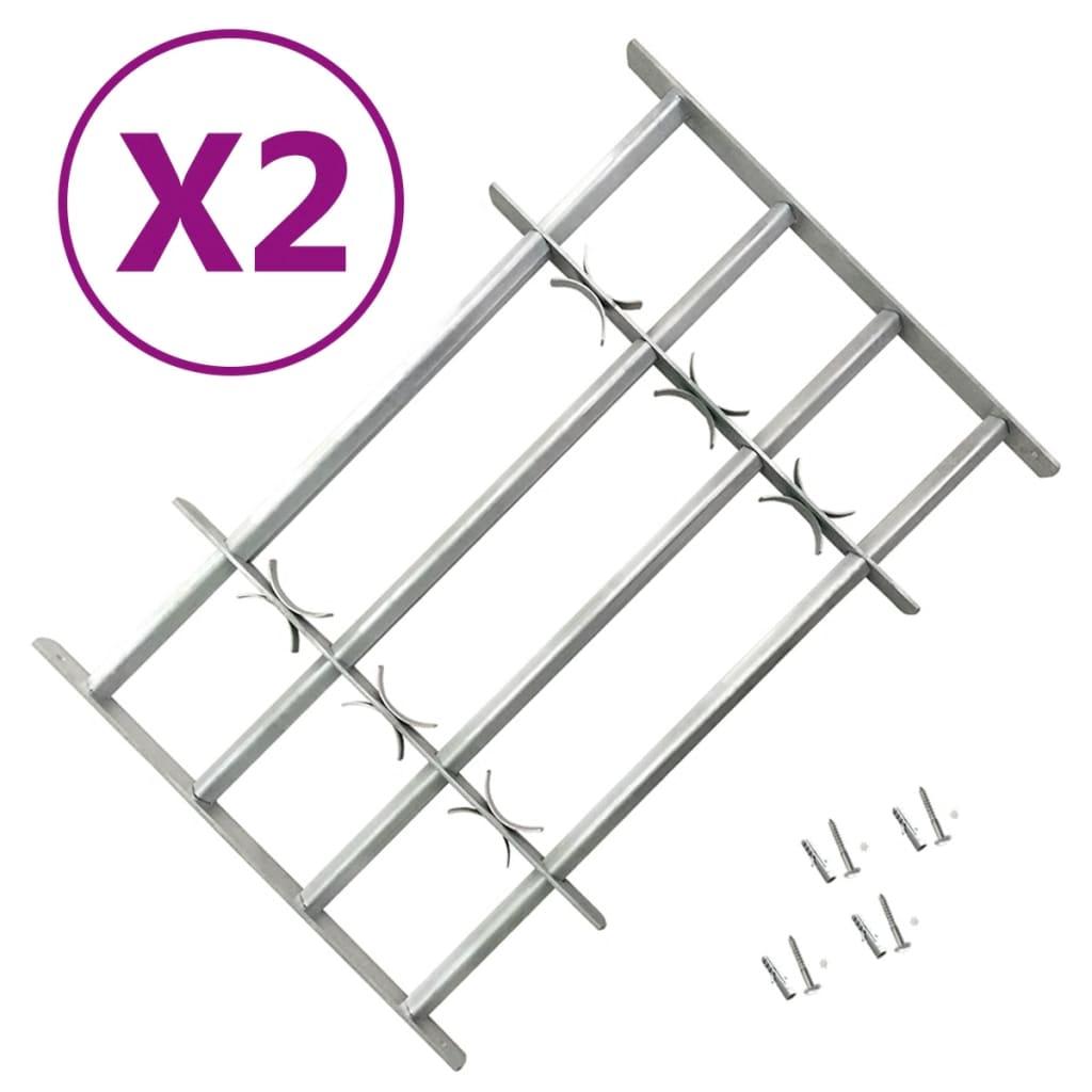 Nastavitelné bezpečnostní okenní mříže 2 ks 1000–1500 mm