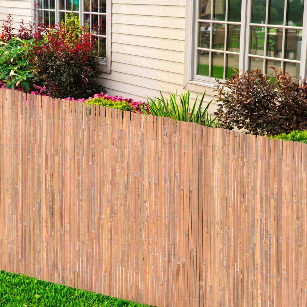 vidaXL Garduri de bambus, 2 buc., 100 x 400 cm