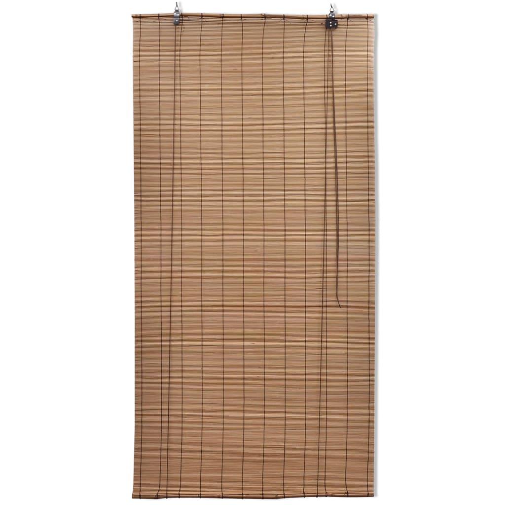 Rolgordijnen 2 st 150x220 cm bamboe bruin