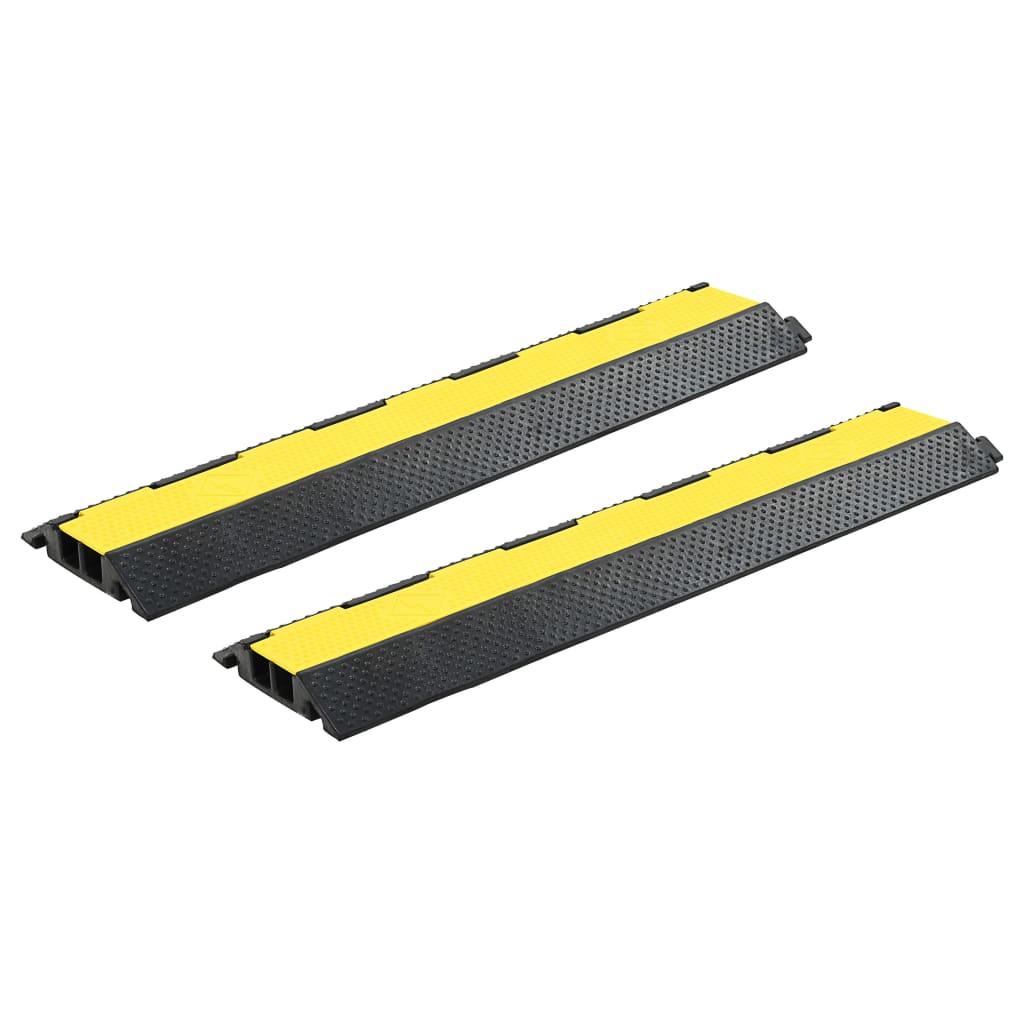vidaXL Rampe de protecție cabluri, 2 buc, 2 canale cauciuc, 101,5 cm vidaxl.ro