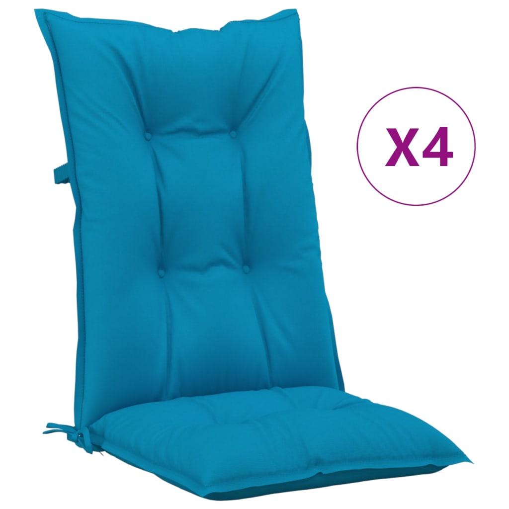 vidaXL Tuinstoelkussens 4 st 120x50x7 cm blauw
