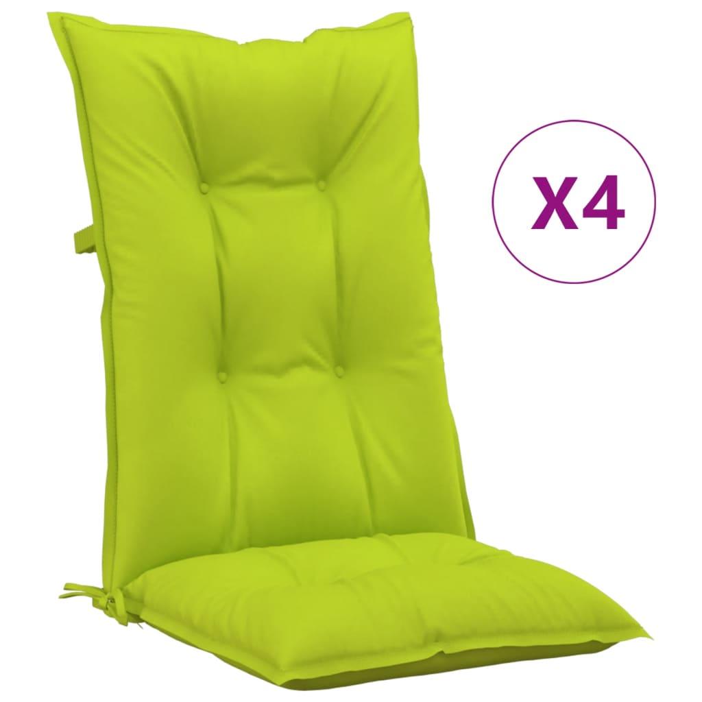 vidaXL Gartenstuhlauflagen 4 Stk. Hellgrün 120x50x7 cm