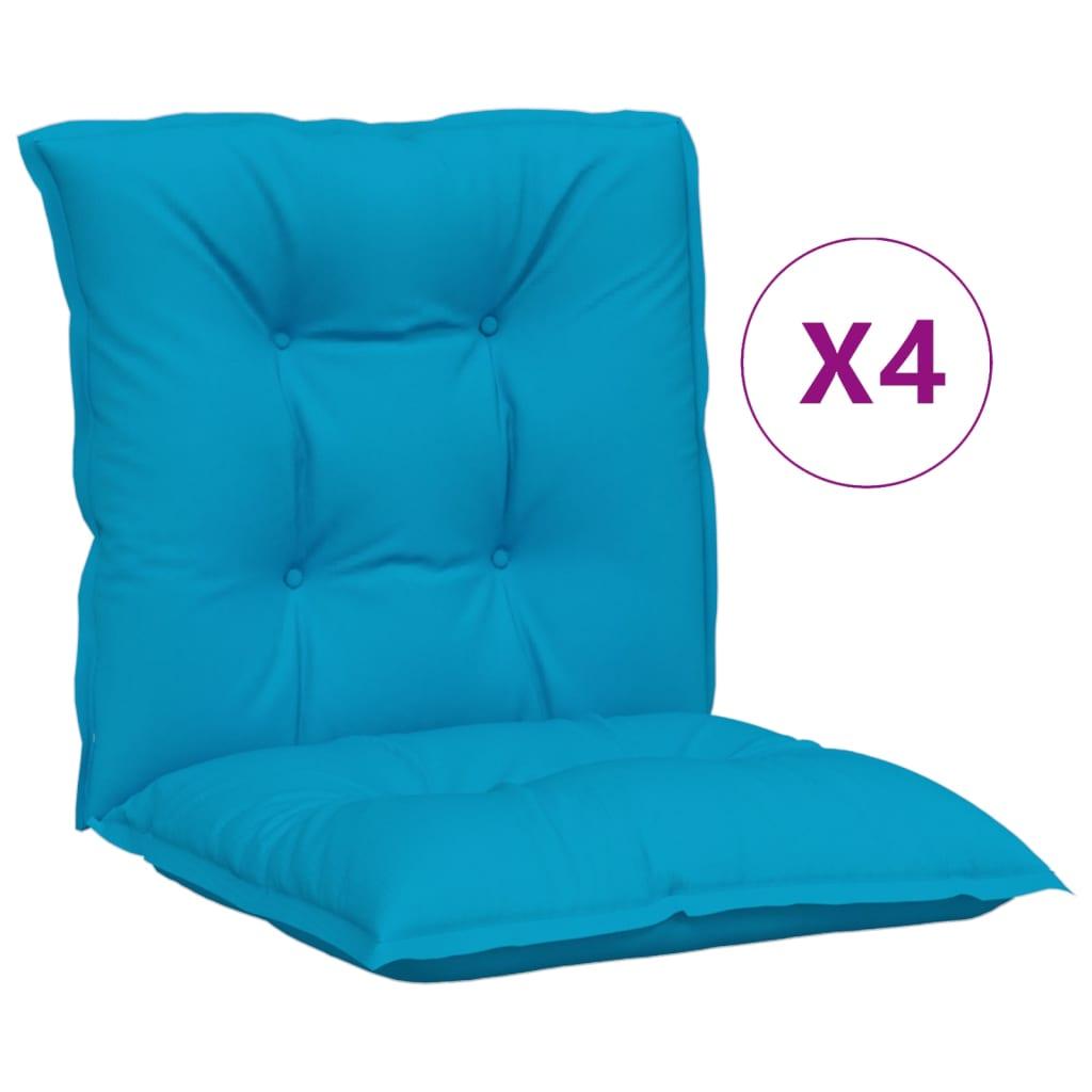 vidaXL Tuinstoelkussens 4 st 100x50x7 cm blauw