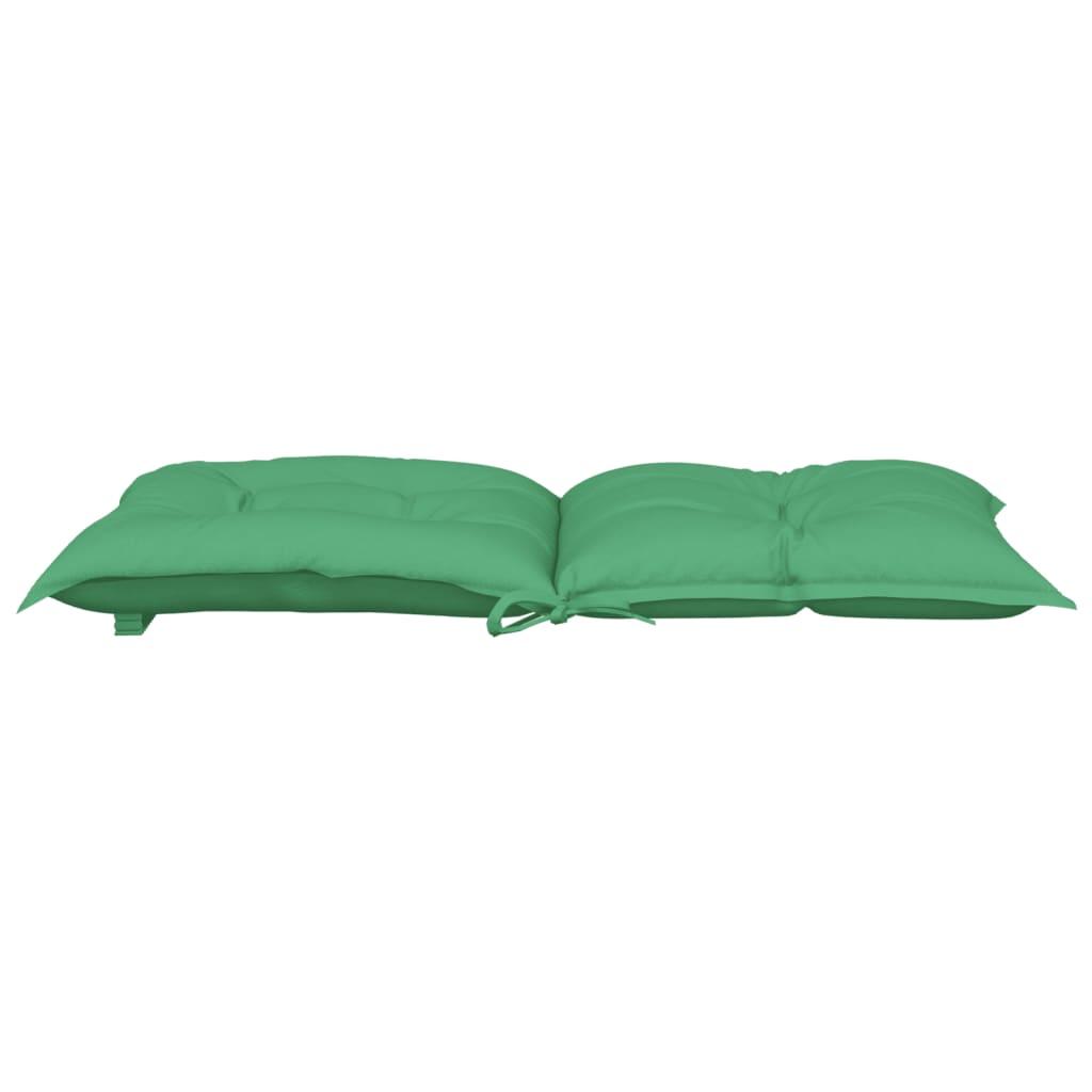 vidaXL Tuinstoelkussens 4 st 100x50x7 cm groen