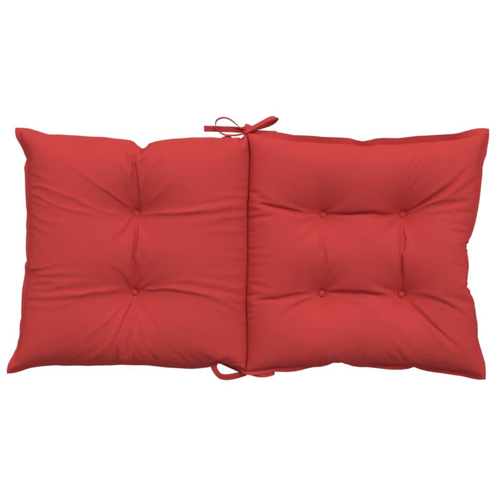 vidaXL Tuinstoelkussens 2 st 100x50x7 cm rood
