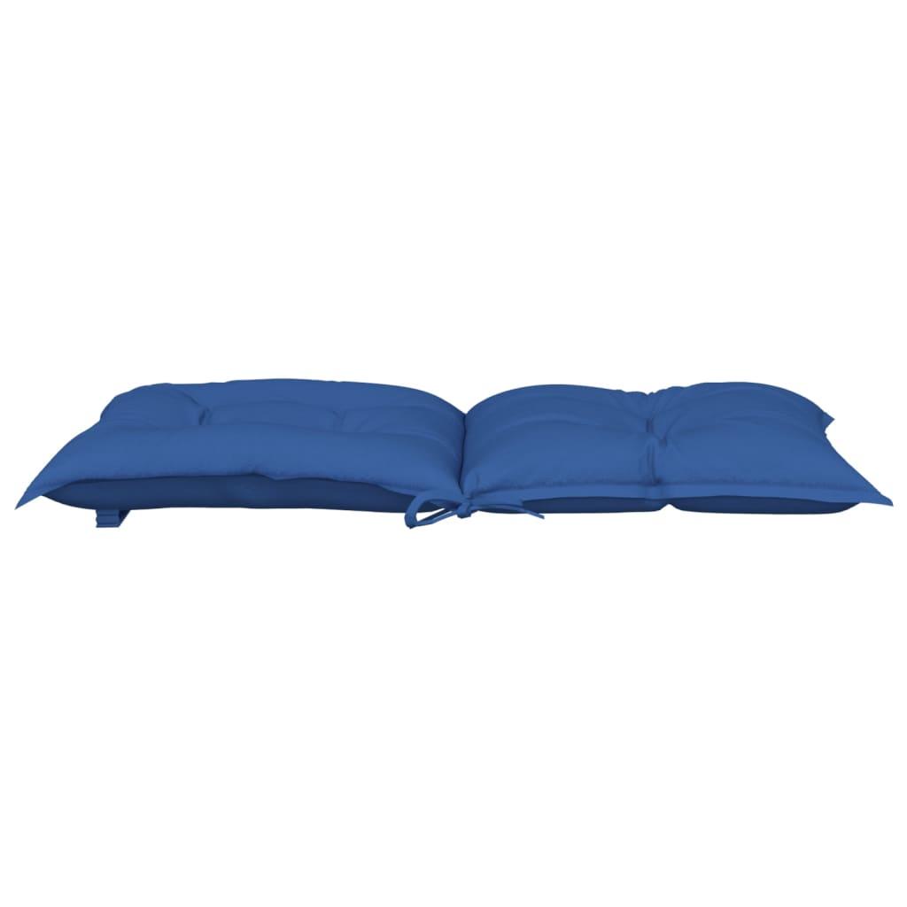 vidaXL Tuinstoelkussens 2 st 100x50x7 cm koningsblauw