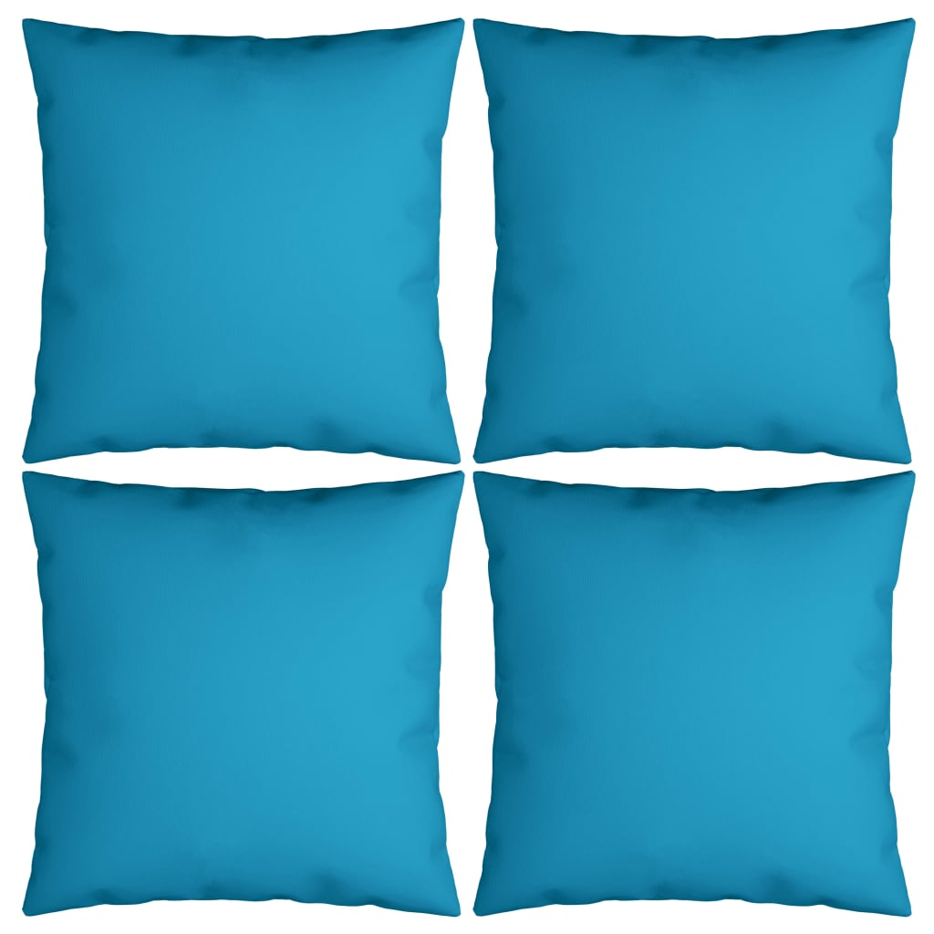vidaXL Perne decorative, 4 buc., albastru, 40x40 cm, material textil poza vidaxl.ro