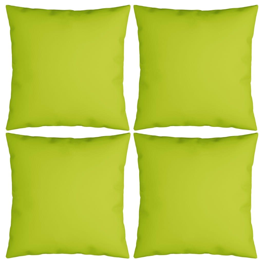 vidaXL Perne decorative, 4 buc. verde aprins 40x40 cm, material textil poza 2021 vidaXL