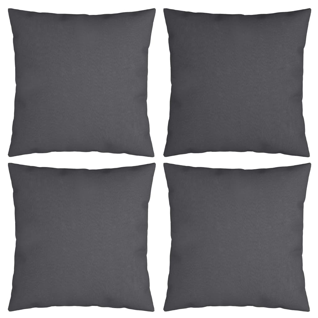 vidaXL Perne decorative, 4 buc., antracit, 50x50 cm, material textil poza vidaxl.ro
