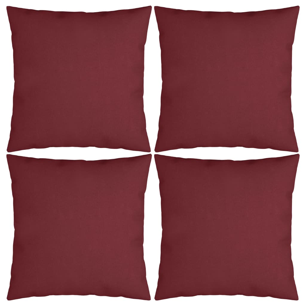 vidaXL Perne decorative, 4 buc., roșu vin, 50 x 50 cm, material textil poza vidaxl.ro