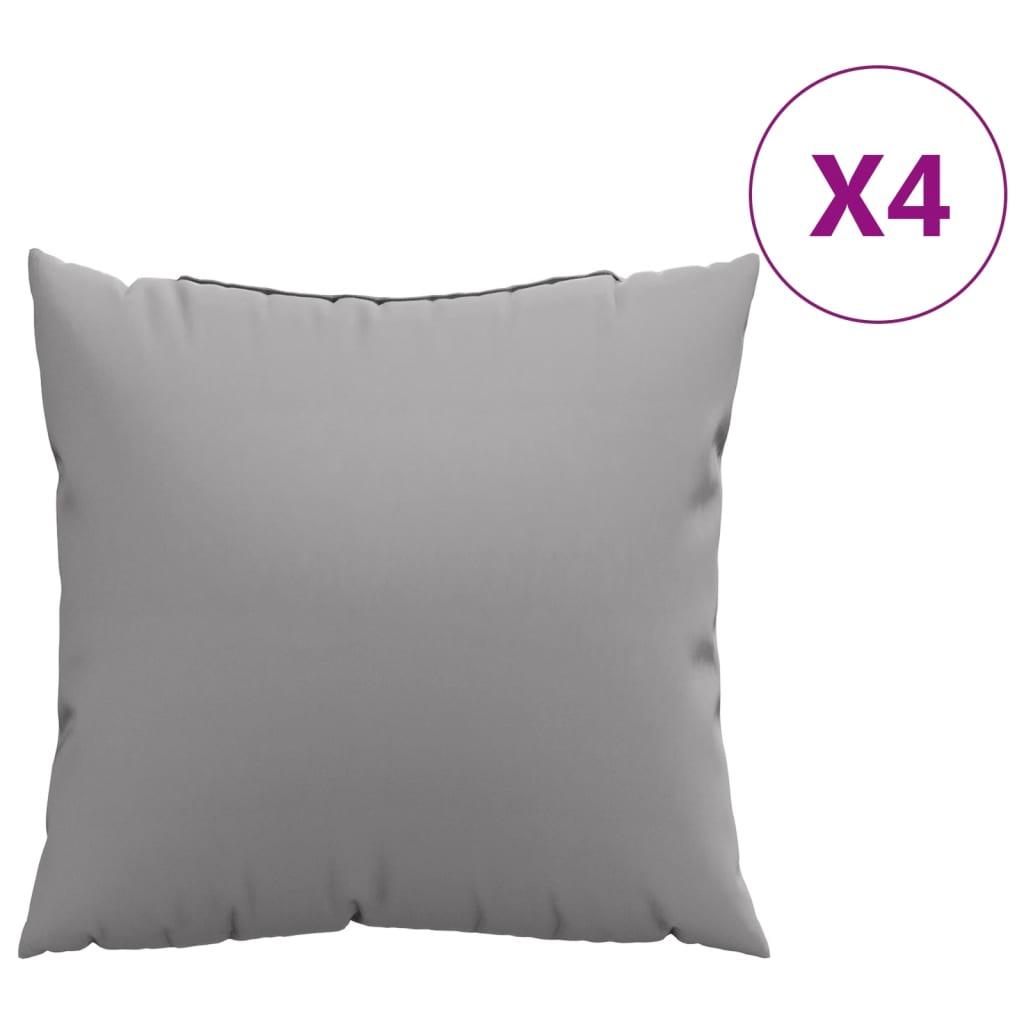 vidaXL Perne decorative, 4 buc., gri, 60x60 cm, material textil poza vidaxl.ro