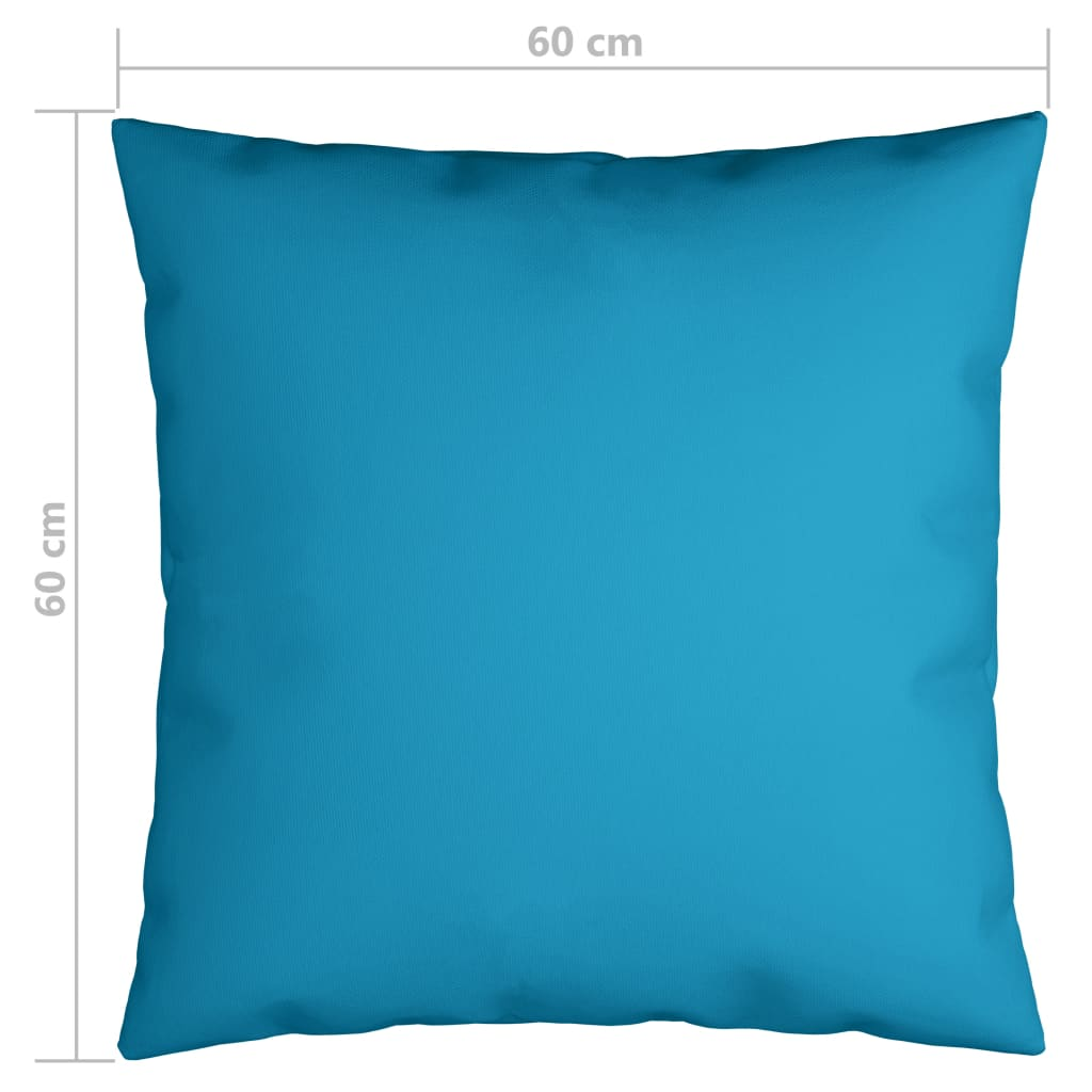 vidaXL Sierkussens 4 st 60x60 cm stof blauw