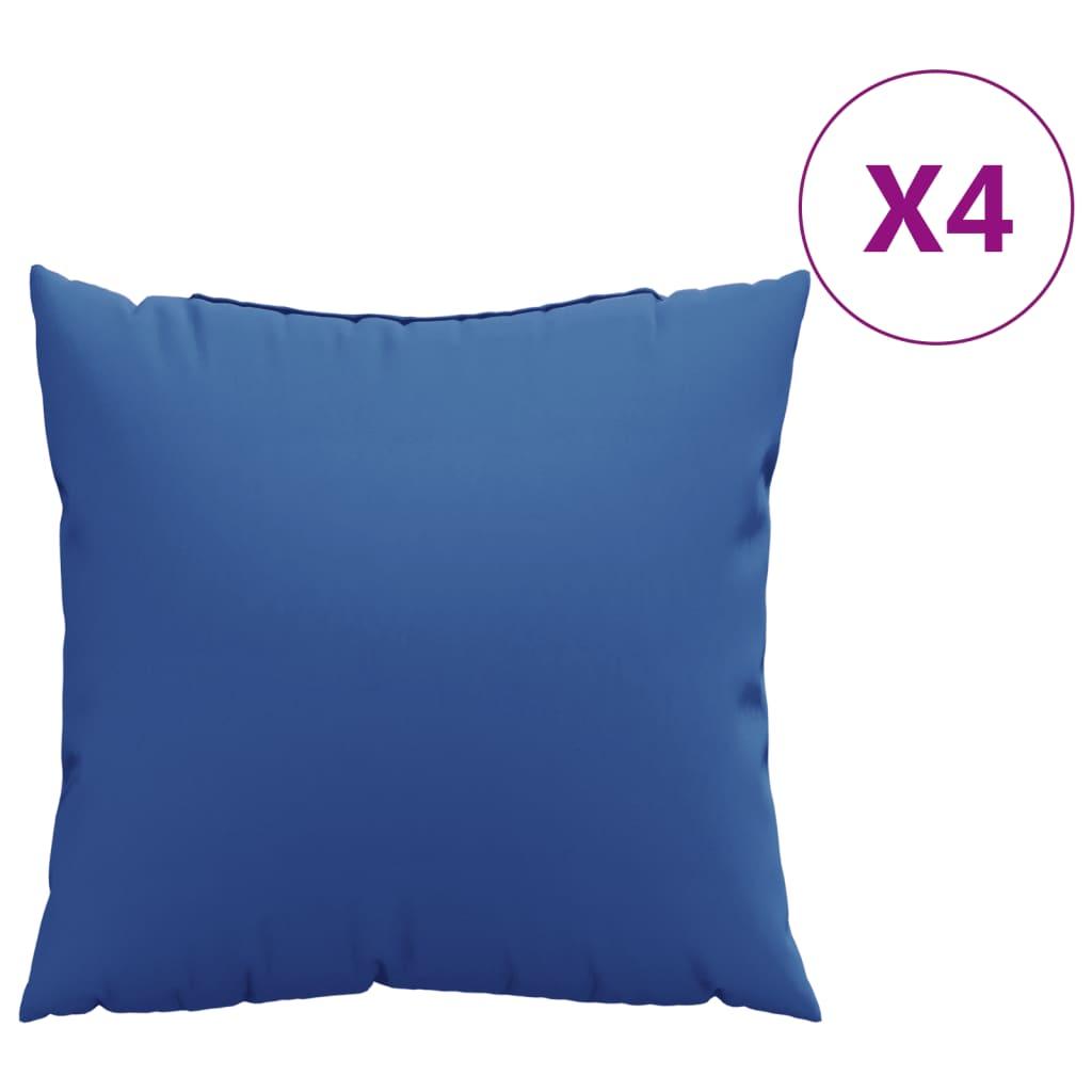 vidaXL Perne decorative 4 buc. albastru regal 60x60 cm material textil poza vidaxl.ro