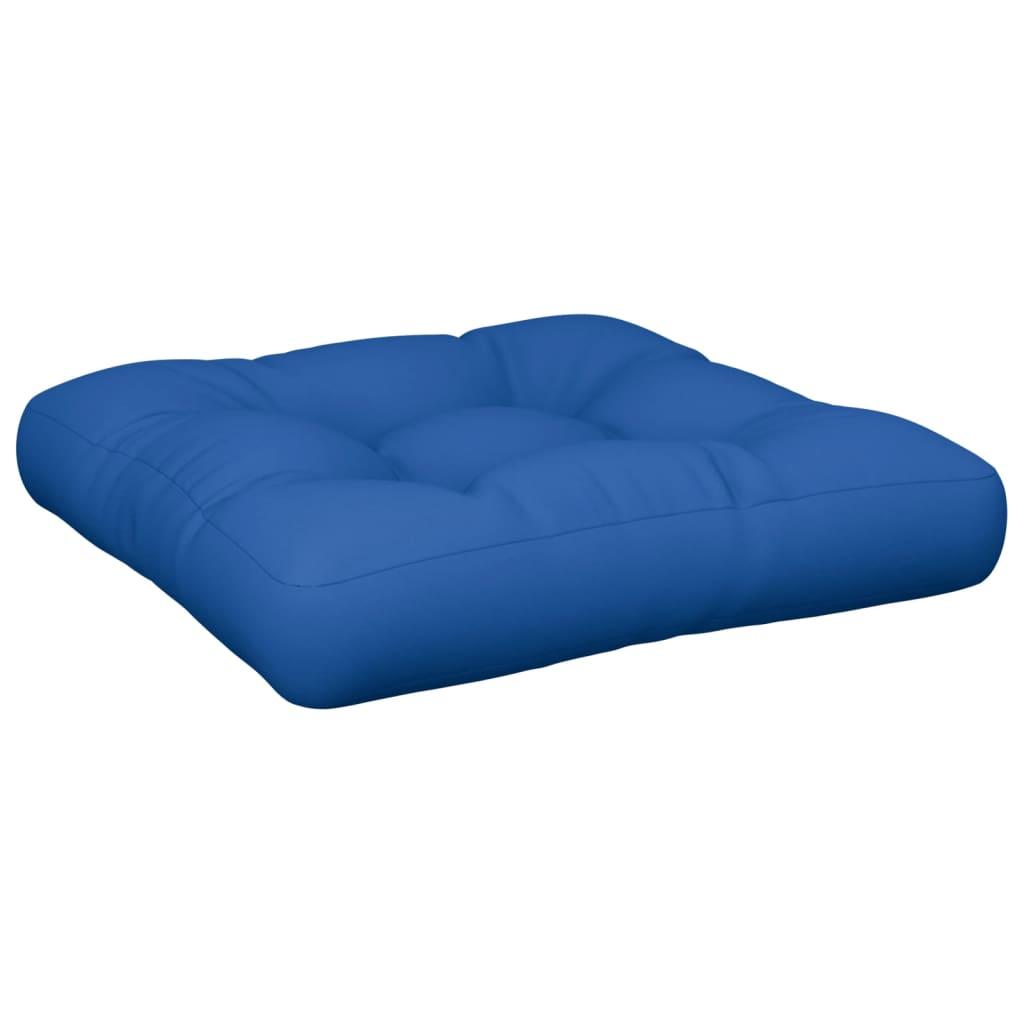 Poduška na pohovku z palet královsky modrá 50 x 50 x 12 cm