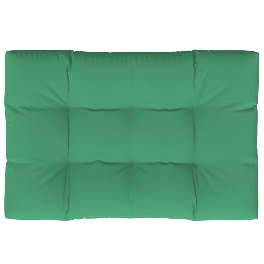 vidaXL Pernă pentru paleți, verde, 120 x 80 x 12 cm, material textil poza vidaxl.ro