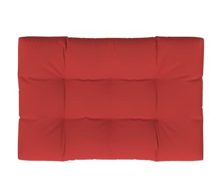 vidaXL Coussin de palette Rouge 120x80x12 cm Tissu
