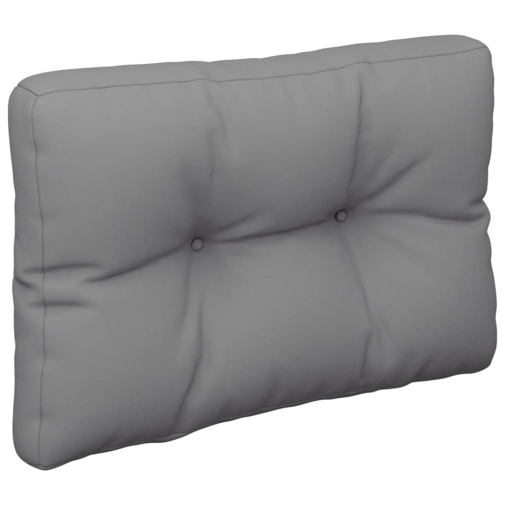 Poduška na pohovku z palet šedá 50 x 40 x 12 cm