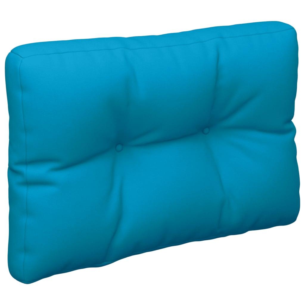 Poduška na pohovku z palet modrá 50 x 40 x 12 cm