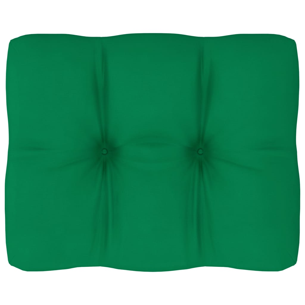 Poduška na pohovku z palet zelená 50 x 40 x 12 cm