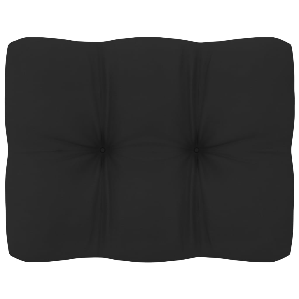 vidaXL Bankkussen pallet 50x40x12 cm zwart