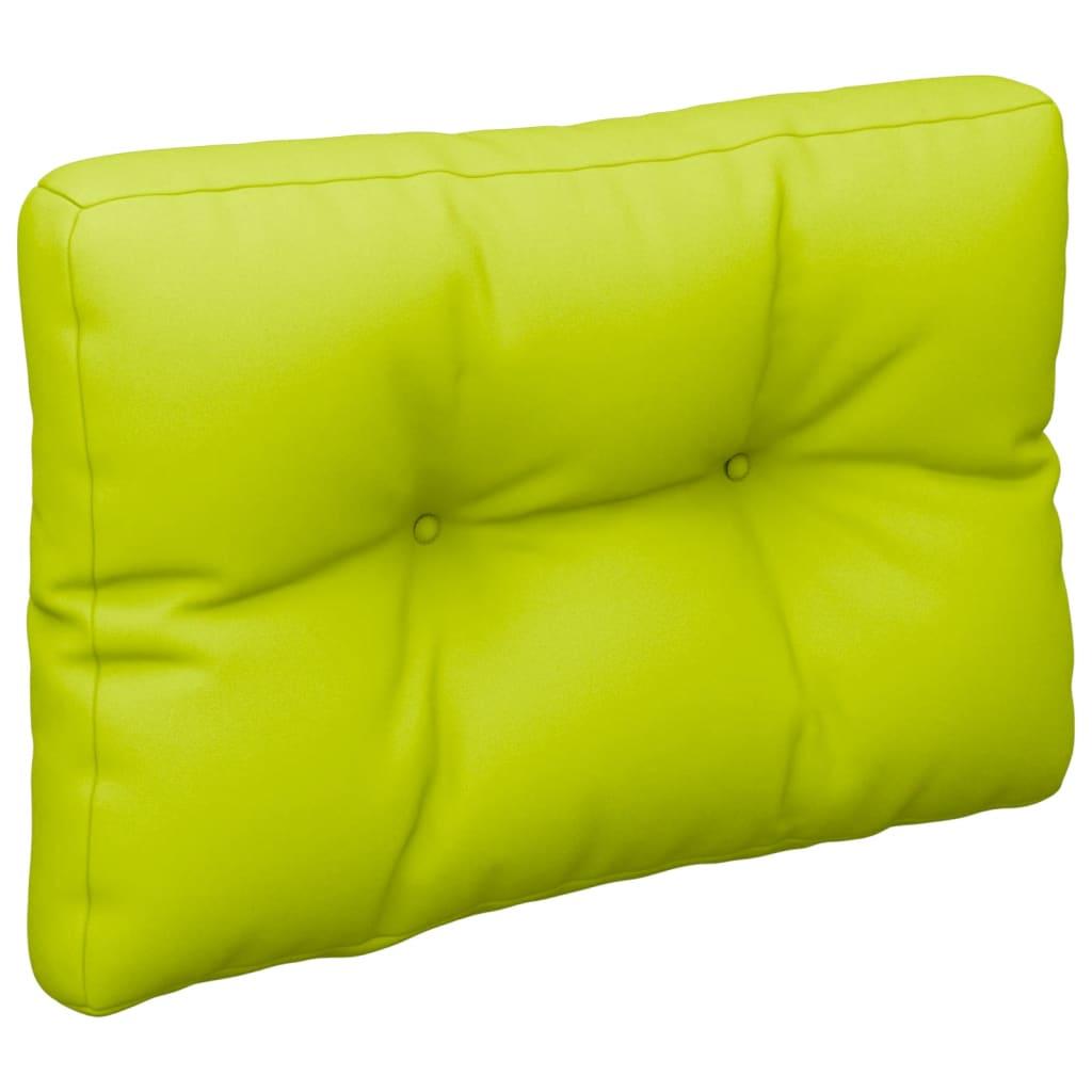 Poduška na pohovku z palet jasně zelená 50 x 40 x 12 cm
