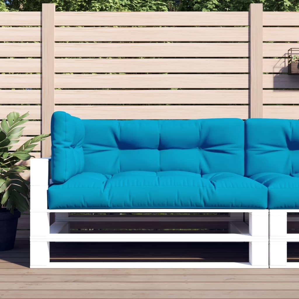 vidaXL Perne pentru canapea din paleți, 3 buc., albastru imagine vidaxl.ro