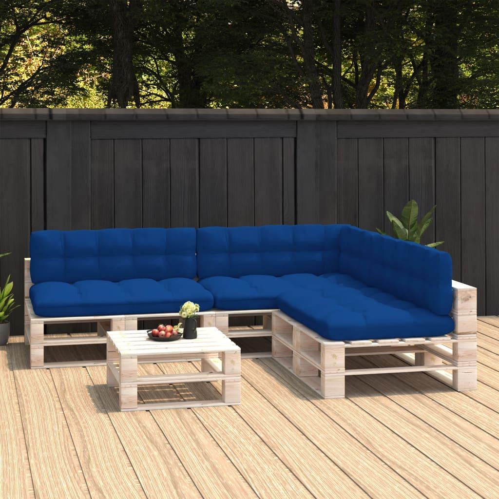 vidaXL Perne canapea din paleți 7 buc. albastru regal