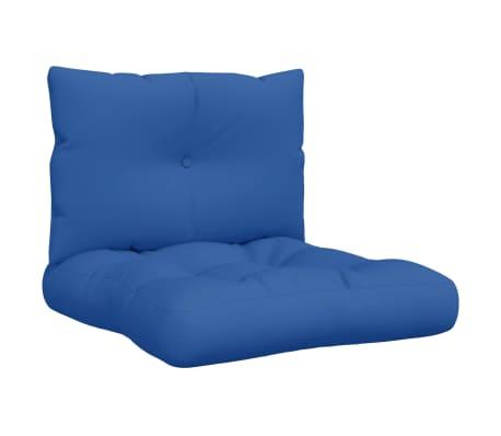 vidaXL Coussins de canapé palette 2 pcs Bleu royal Tissu