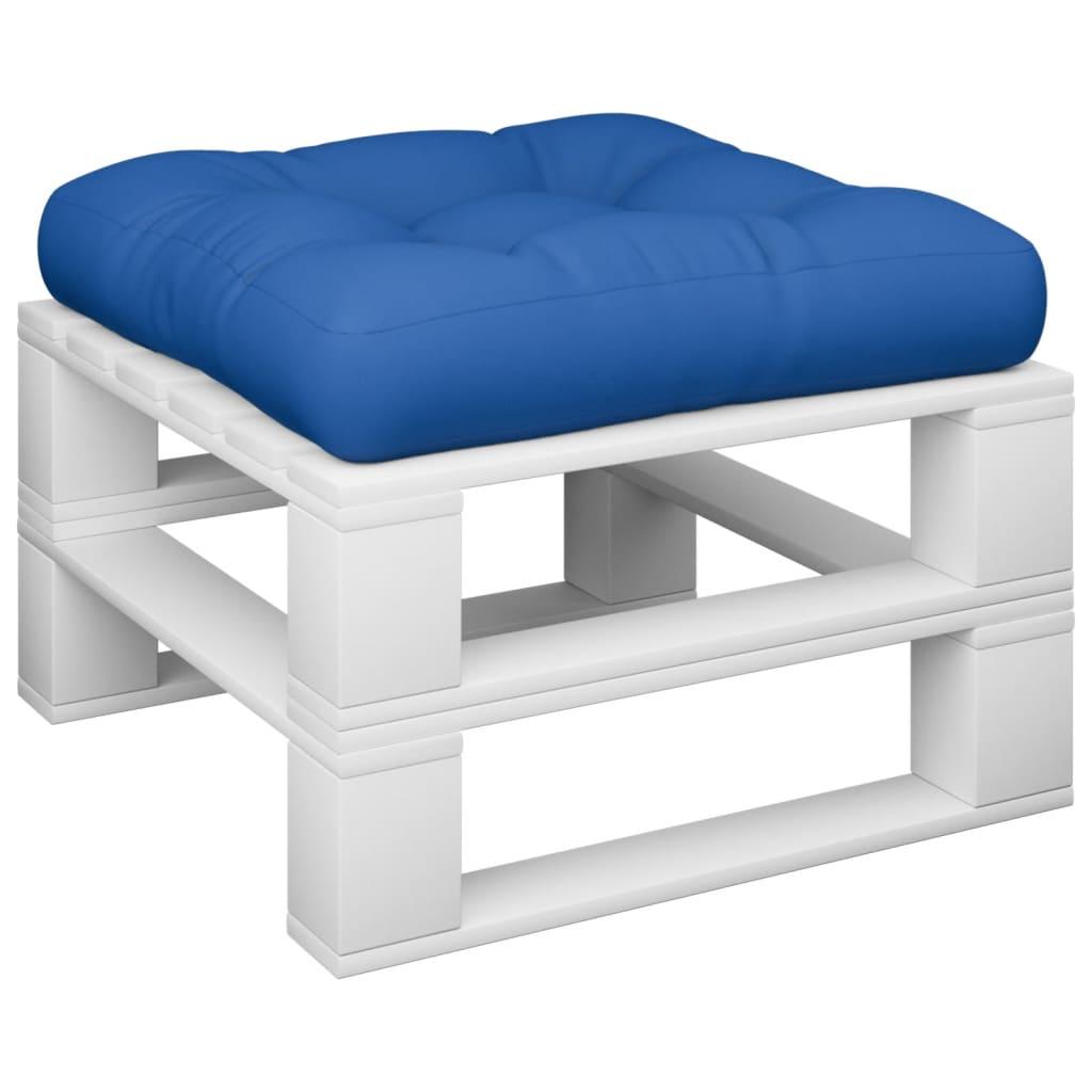 vidaXL Hockerkussen pallet stof koningsblauw