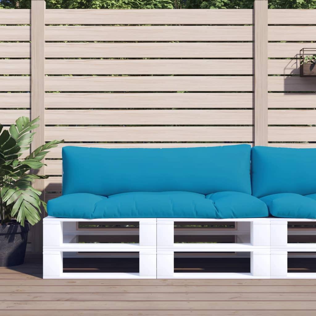 vidaXL Perne canapea din paleți 2 buc. albastru