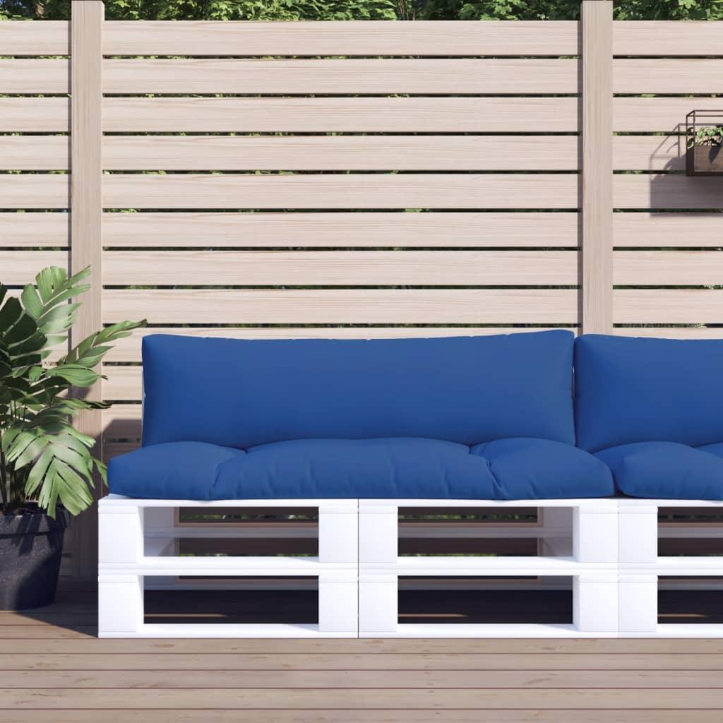 vidaXL Perne canapea din paleți 2 buc. albastru regal