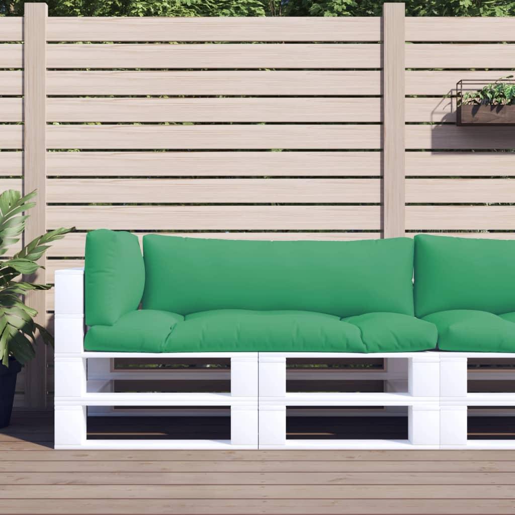 vidaXL Perne pentru canapea din paleți, 3 buc., verde poza vidaxl.ro