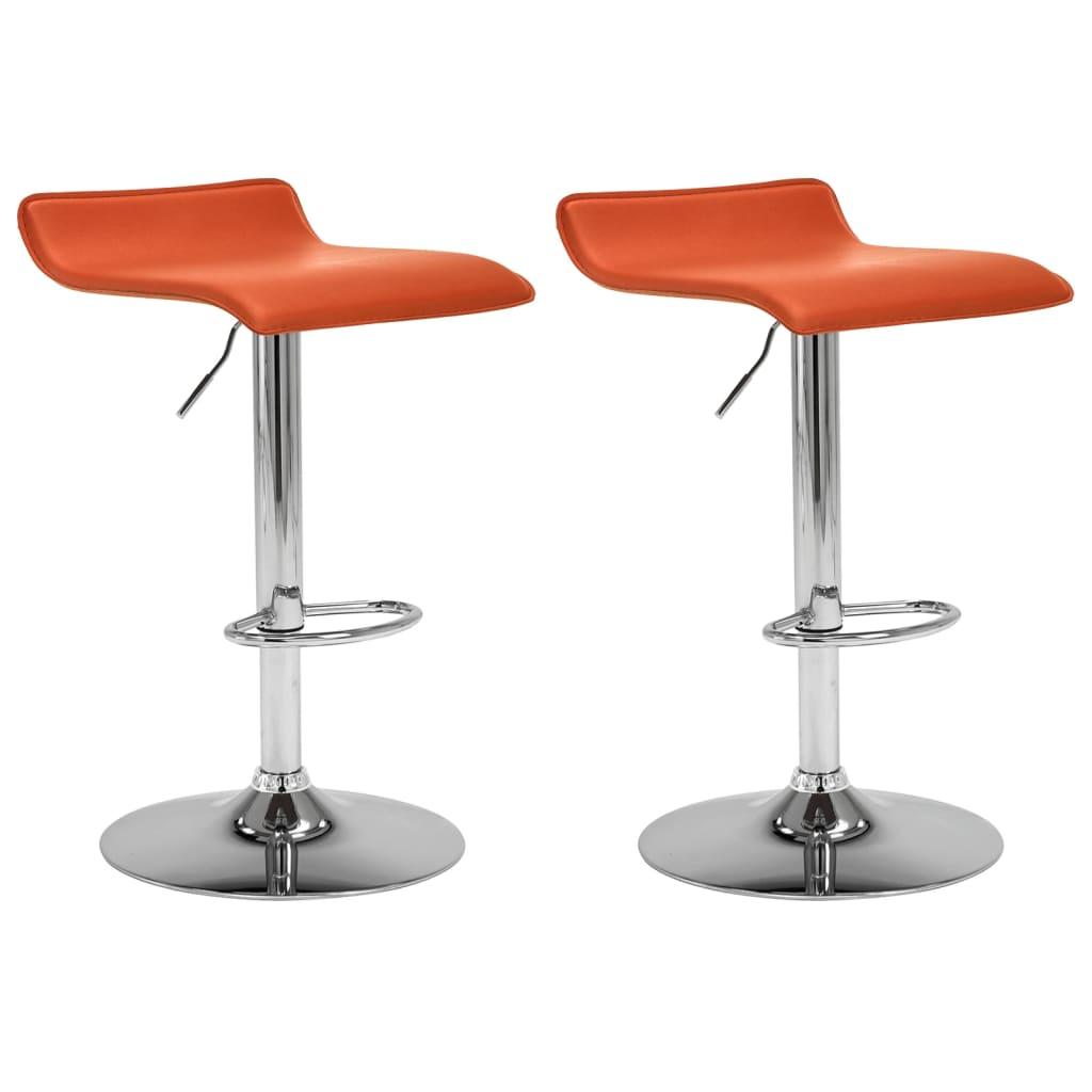 vidaXL barstole 2 stk. kunstlæder orange