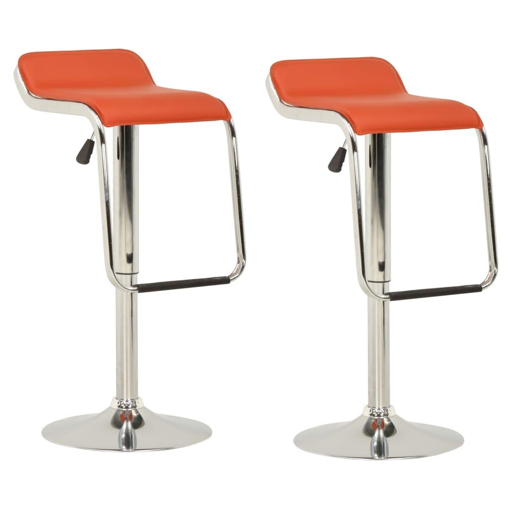 vidaXL barstole 2 stk. stof og bøjet træ orange
