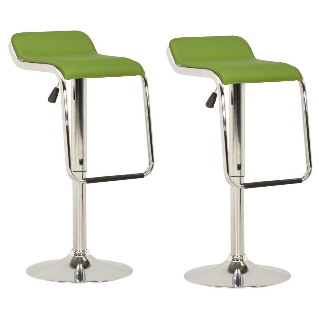 vidaXL barstole 2 stk. stof og bøjet træ grøn