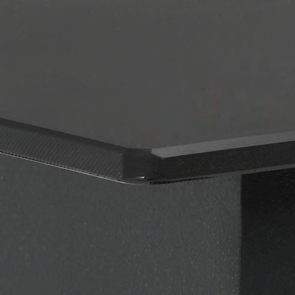 vidaXL Tuintafel 190x90x74 cm staal en glas zwart