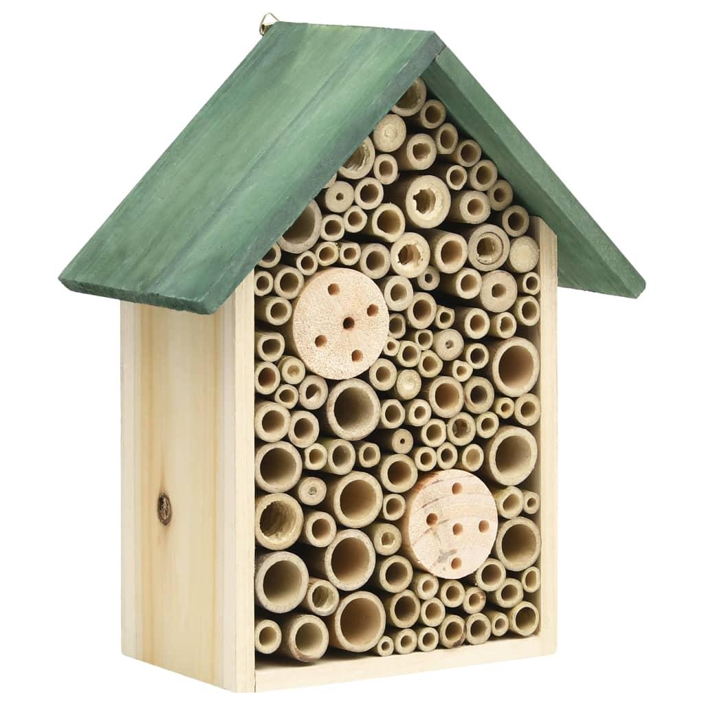 vidaXL Hmyzí hotel 2 ks 23 x 14 x 29 cm masivní jedlové dřevo