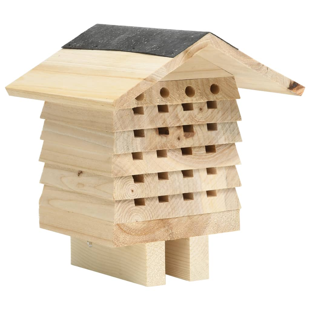Hmyzí hotel masivní jedlové dřevo 22 x 20 x 20 cm