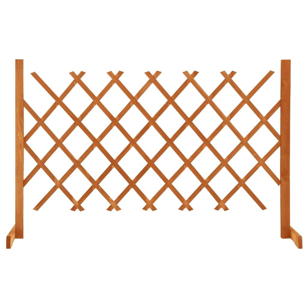 Zahradní trelážový plot oranžový 120 x 90 cm masivní jedle