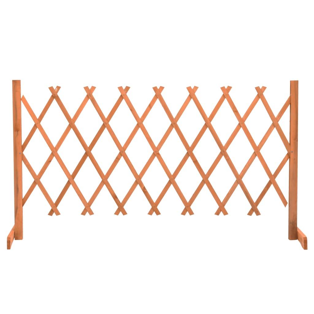 Zahradní trelážový plot oranžový 150 x 80 cm masivní jedle
