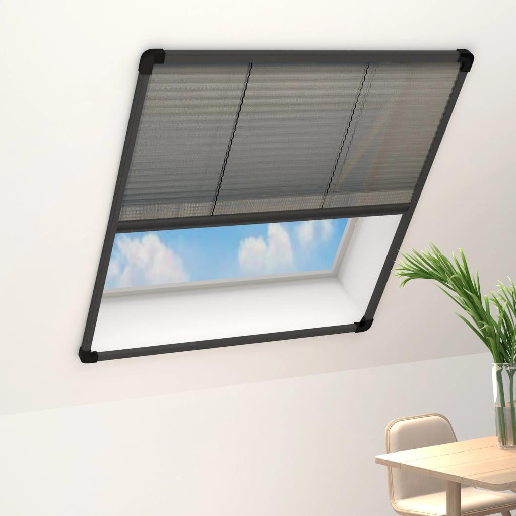 vidaXL Plasă insecte pentru ferestre, antracit, 100x160 cm, aluminiu imagine vidaxl.ro
