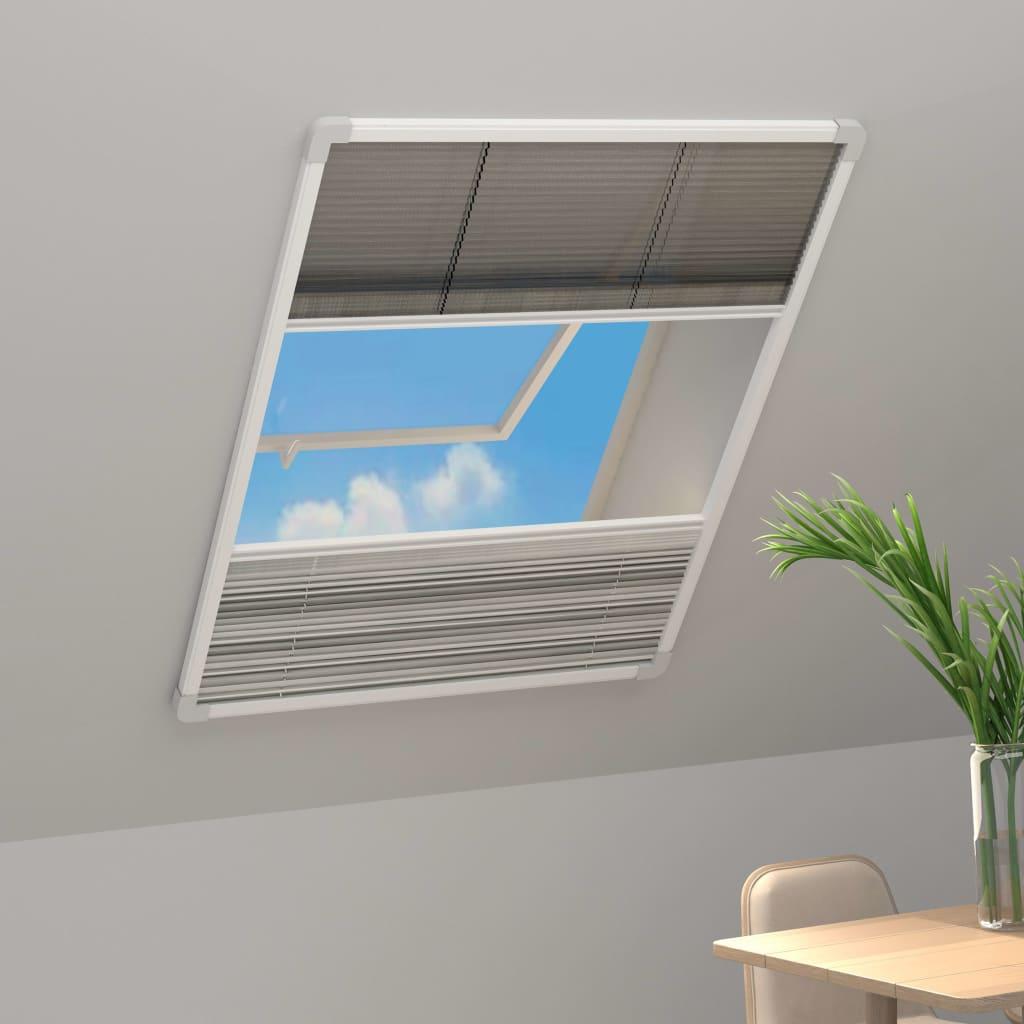 vidaXL Plasă insecte pentru ferestre, 60 x 160 cm, aluminiu, cu umbrar imagine vidaxl.ro