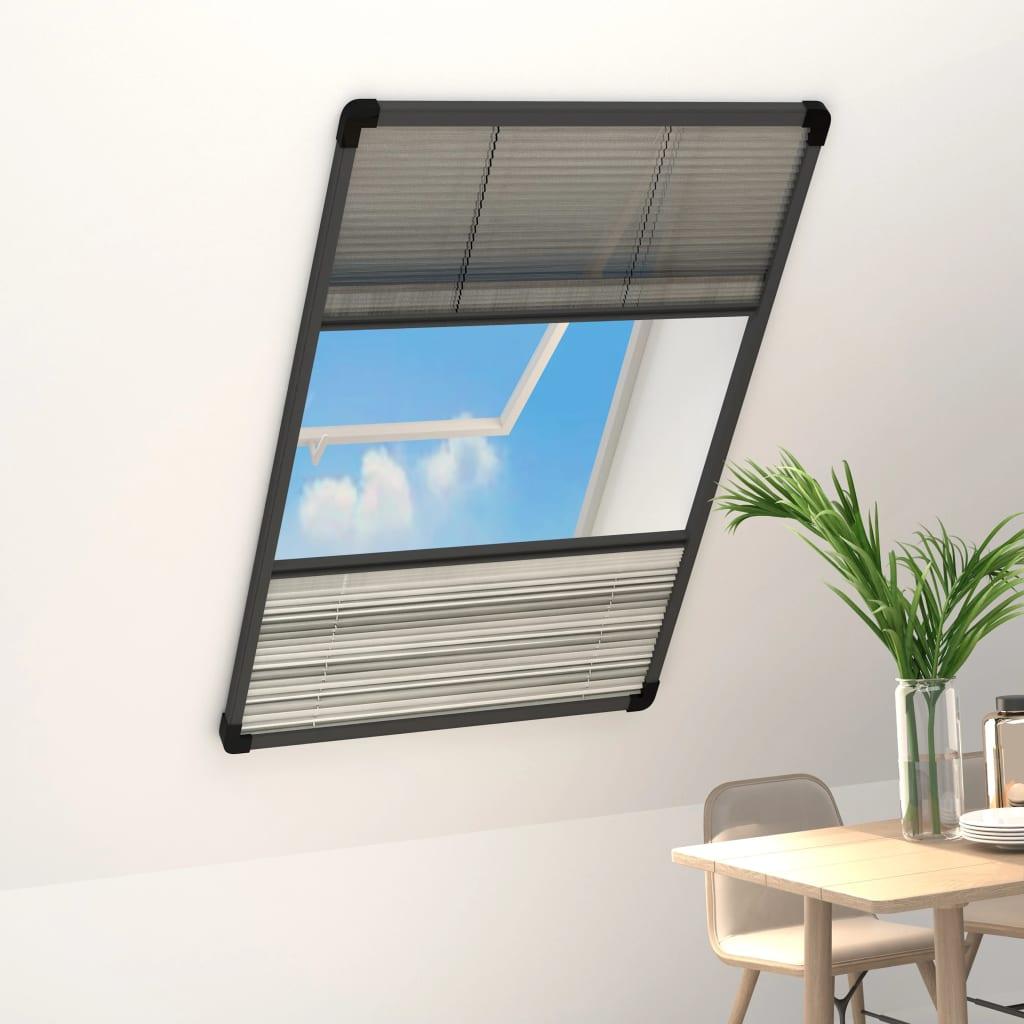 vidaXL Plasă insecte pentru ferestre, 60x160 cm, aluminiu, cu umbrar imagine vidaxl.ro