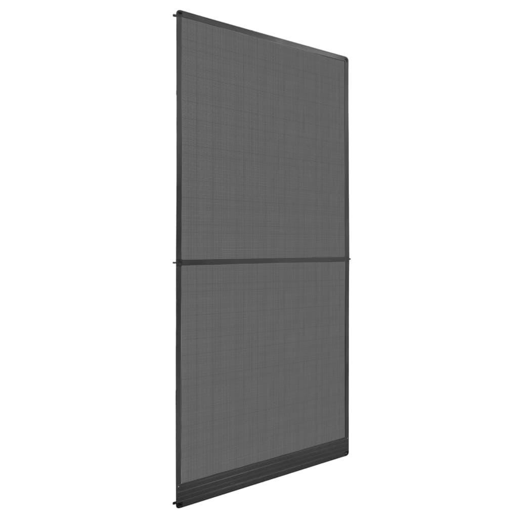 vidaXL Plasă insecte cu balamale pentru uși, antracit, 100 x 215 cm poza 2021 vidaXL