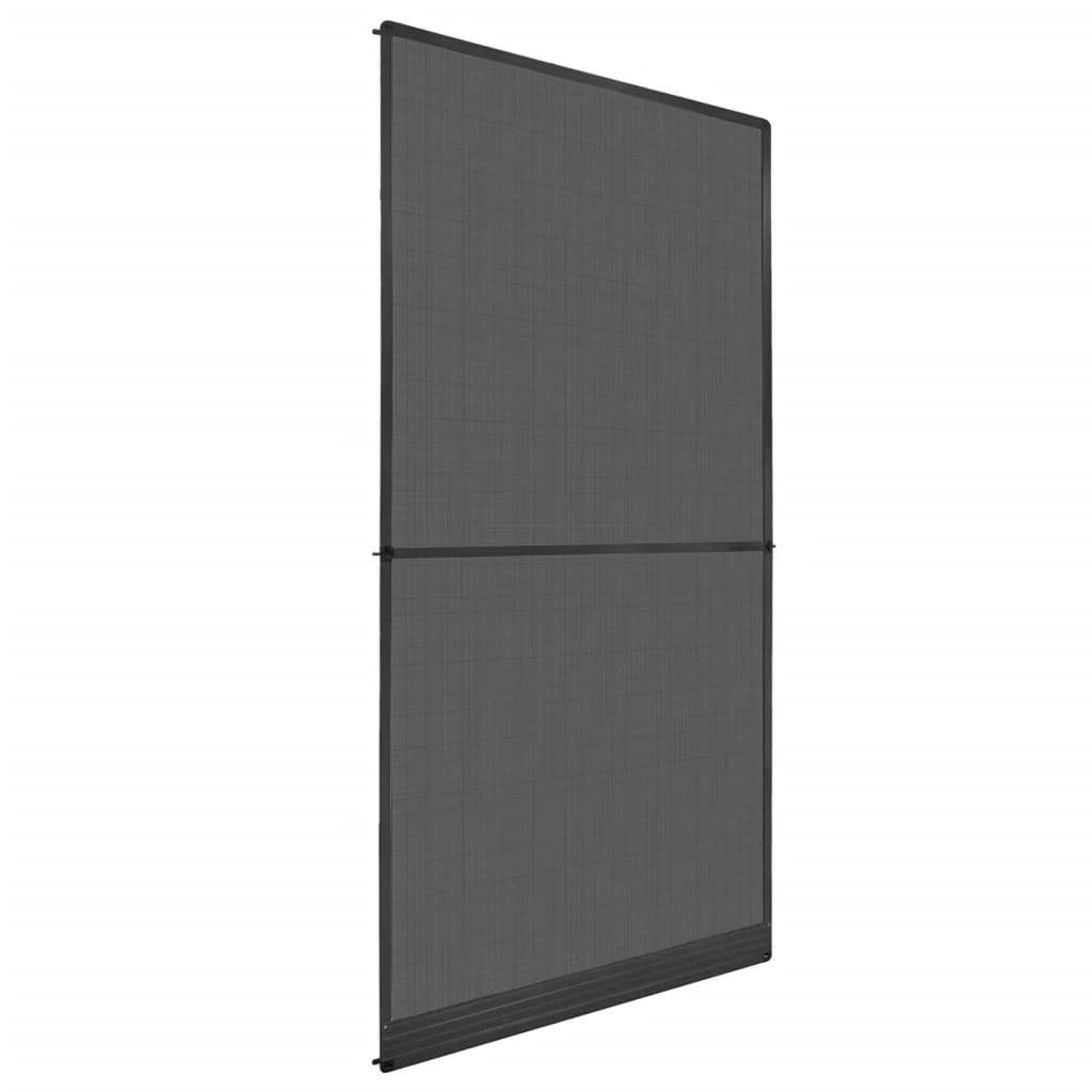 vidaXL Plasă insecte cu balamale pentru uși, antracit, 120 x 240 cm imagine vidaxl.ro