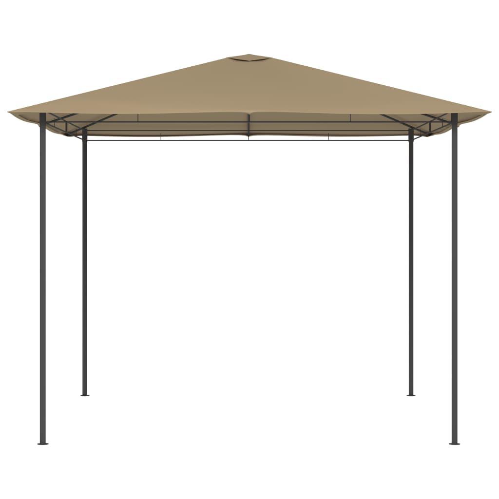 Lehtla 3 x 3 x 2,6 m, pruunikashall, 160 g/m²